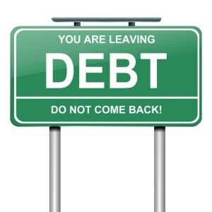 debt free sign_14511531_s